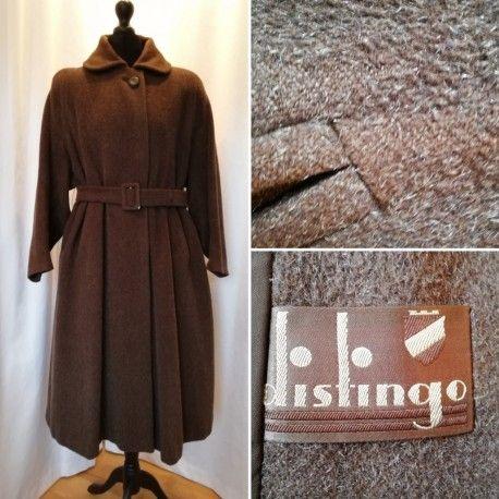 4b5f893ef933 Vintage kappa vinter-kappa Distingo brun med silver-vita inslag vid modell  skärp