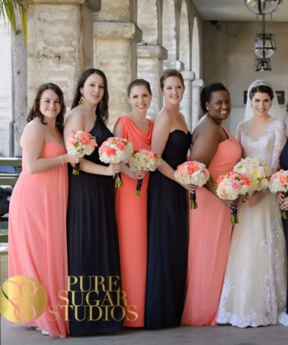 Bridesmaids In Two Diffe Color Dresses Ideas For Bride And Maids Pinterest Bridesmaid Wedding Bridal
