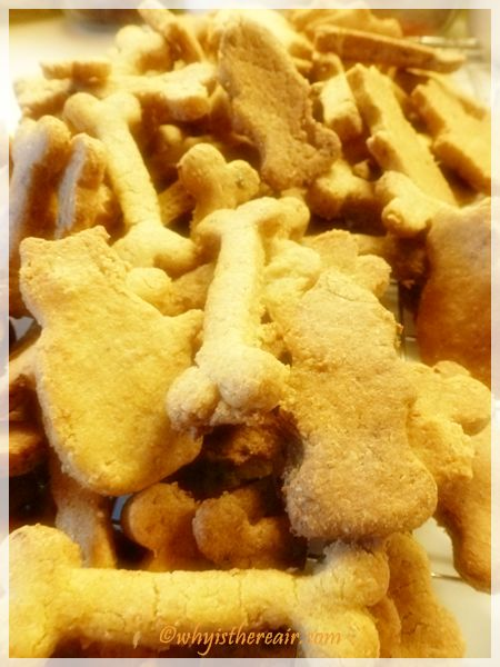 I was able to make 138 dog biscuits with this recipe, shown here in my tin