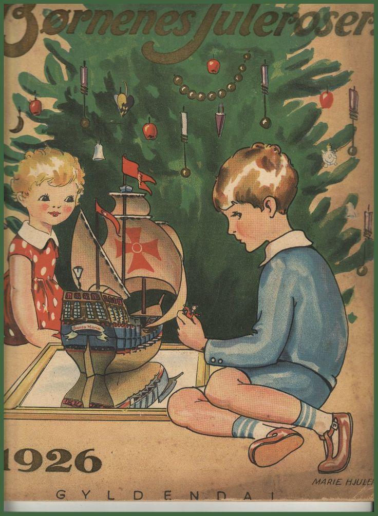 """""""Children's Christmas Roses"""" 1926 - designed by Marie Hjuler."""