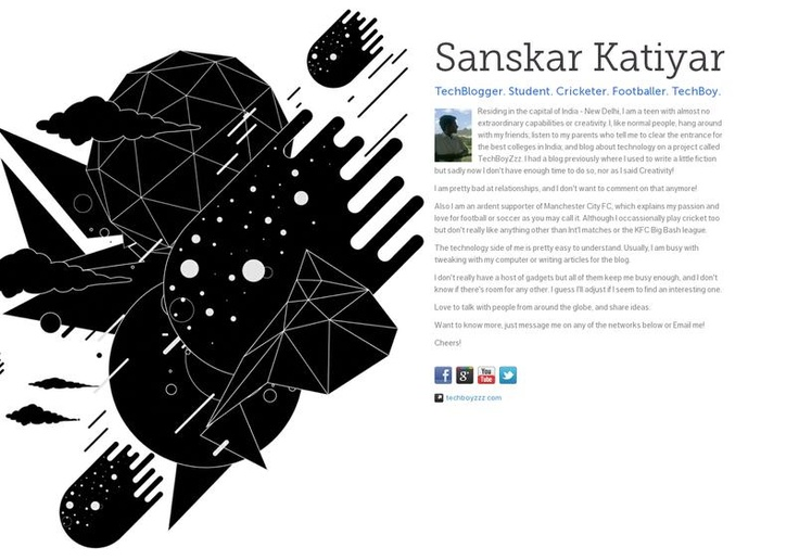 Here's a little about myself. A LITTLE! – http://about.me/sanskarkatiyar