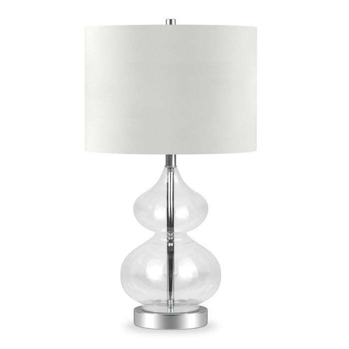 Galen Double Gourd 24 Table Lamp Reviews Joss Main In 2020 Glass Table Lamp Clear Glass Table Lamp Table Lamp