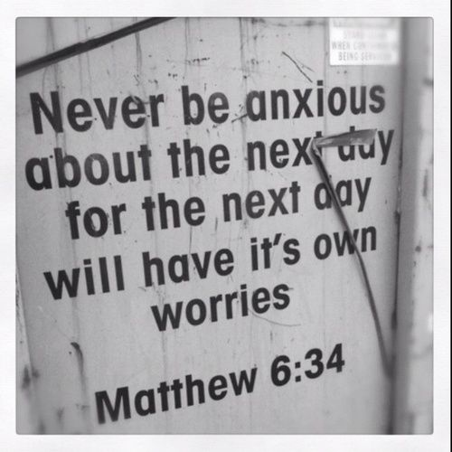 10 Bible Verses About Anxiety:  Philippians 4:6-8  Matthew 6:31-34  Psalm 56:3  Matthew 6:27   Matthew 11:28-30  Psalm 121:1-2  Psalm 23:4  Proverbs 3:5-6  1 Peter 4:7  Psalm 46:10