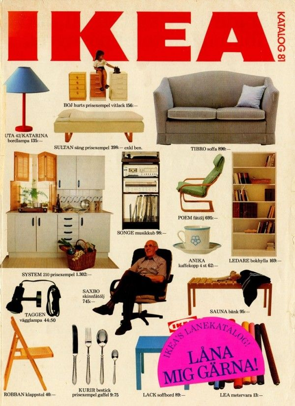 IKEA Catalog Covers from 1951-2014 (cover from 1981) #GraphicDesign #Interiors #Ikea