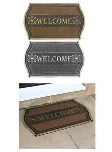 a bienvenida a entrada felpudo metalico protector de piso de captura de suciedad puerta estera antideslizante