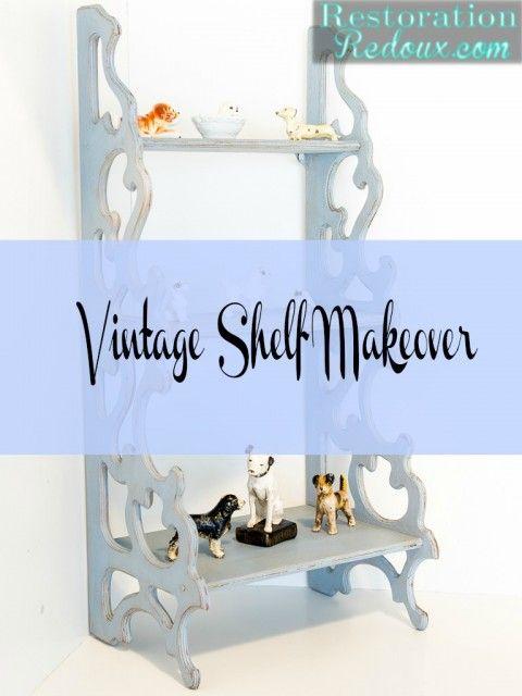 Vintage Shelf Makeover - Restoration Redoux http://www.restorationredoux.com/?p=8536