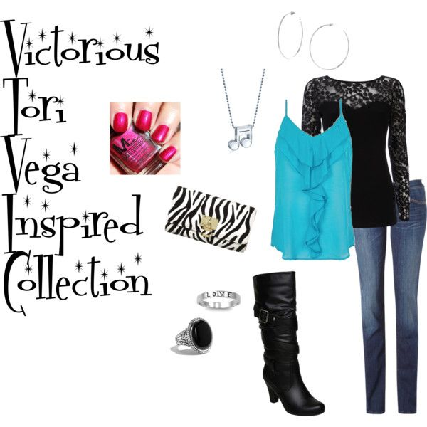 """Victorious Tori Vega Inspired Collection"" by animalsc on Polyvore"