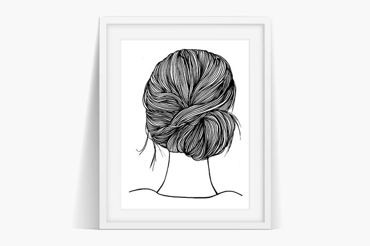 Gloria's Hair Art Art Instant Download . Original art by Sian Whitehall. Instant Download Now!