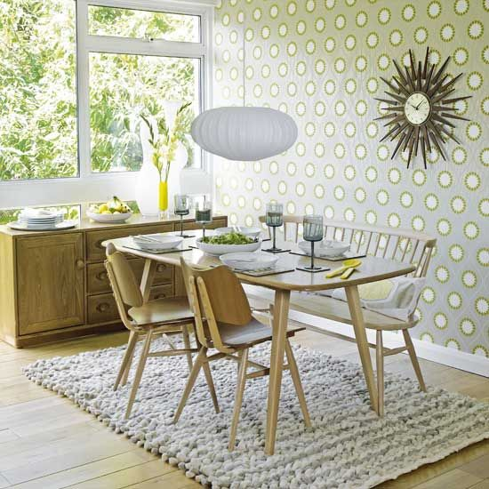 1960s Vintage Dinning Rooms | Roomenvy   Retro 1960s Inspired Dining Room