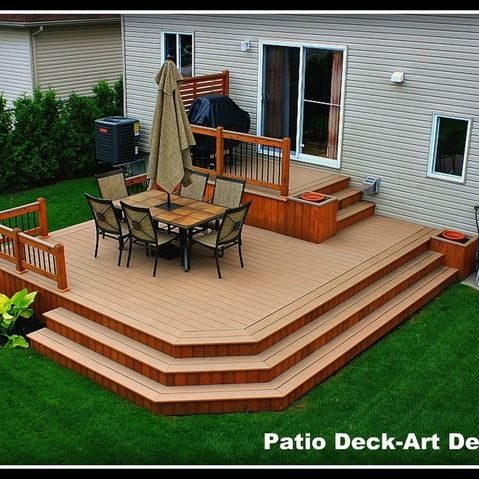 two tier decks design ideas pictures remodel and decor - Backyard Deck Design Ideas