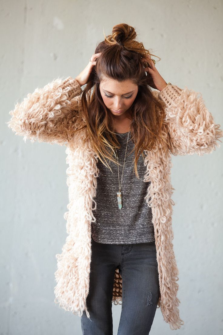 Slouchy Batwing Cardigan - OASAP.com | Fluffy coat, Big bird and ...