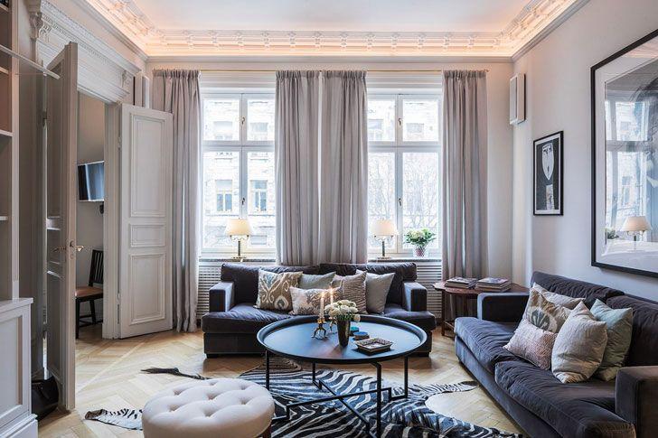 Парижский дух в Стокгольме (96 кв. м) | Пуфик - блог о дизайне интерьера