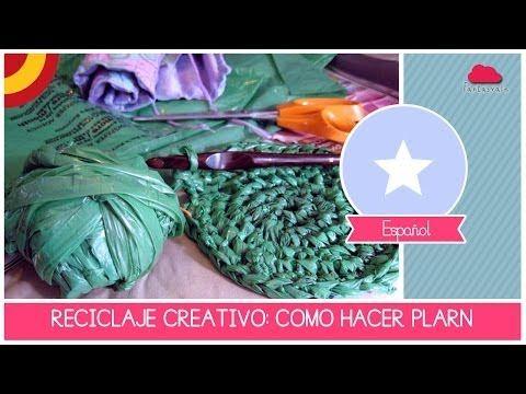 Tutorial RECICLAJE CREATIVO: como hacer PLARN el hilo con bolsas de plastico - YouTube