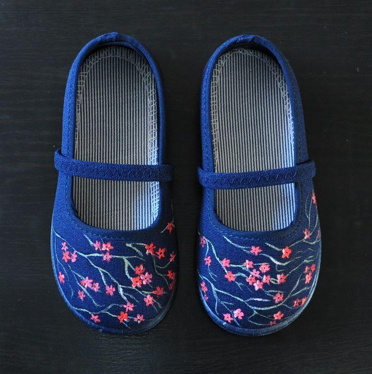"""Zapatillas """"Flor de cerezo""""."""
