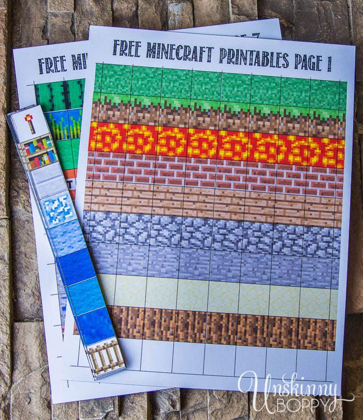 Free-Minecraft-Magnet-Printables