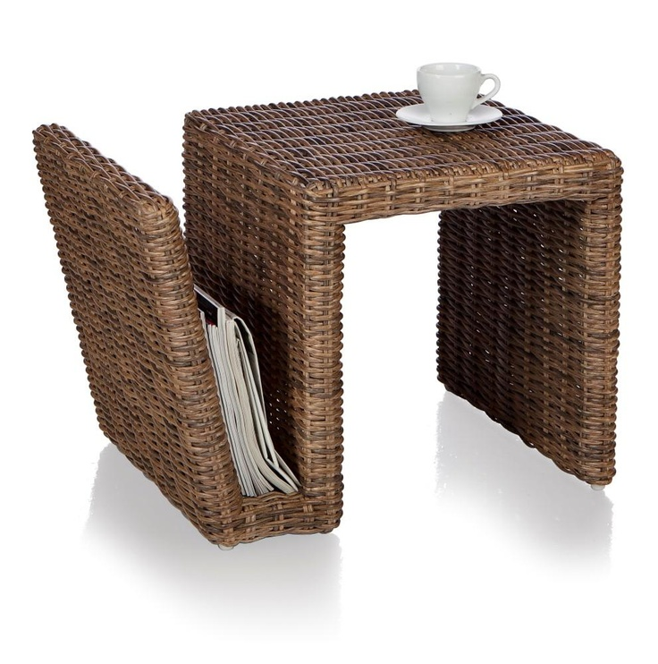 Natural newspaper basket/table