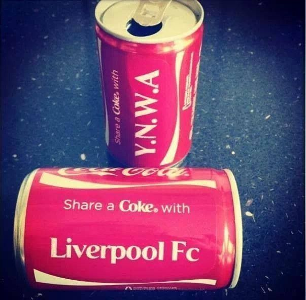 Have a coke with Liverpool FC