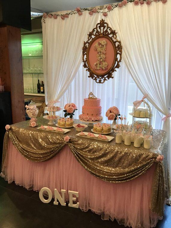 Jupe en Tulle rose Tutu nappe/Table pour la par AJweddingpartyevent