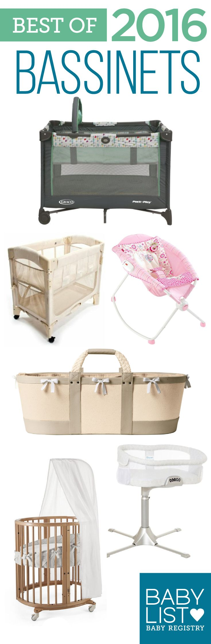 Need some bassinet advice to help you pick out the best one? Here are the 6 best bassinets of 2016- based on our own research + input from thousands of parents. There's no one must-have bassinet. Every family is different. Use this guide to help you figure out the best crib for your family's needs and priorities.