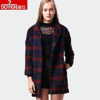 Longo comprimento da manta de lã solta trincheira casaco de inverno feminino temperamento casaco de lã de gaiola de alta qualidade