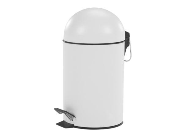 MADE Essentials – Joss, poubelle à pédale 3L, blanc