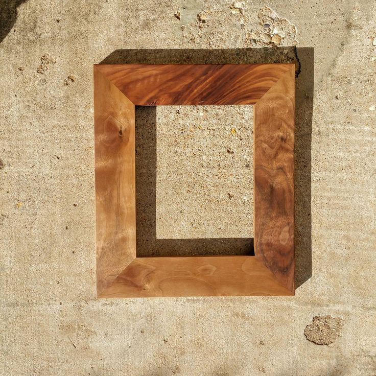 mid century modern picture frames solid walnut frames