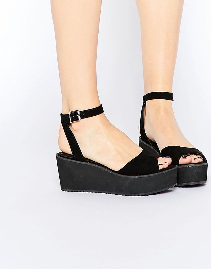 Image 1 of ASOS TEDDY Wedge Sandals
