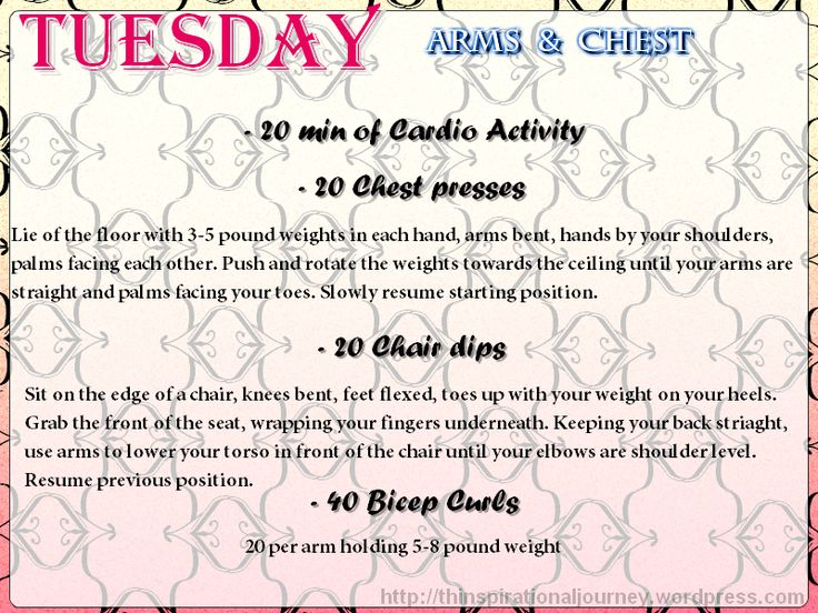 Tuesday arms and Chest