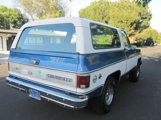 1973 Chevy Blazer K5 4X4. Original California car.