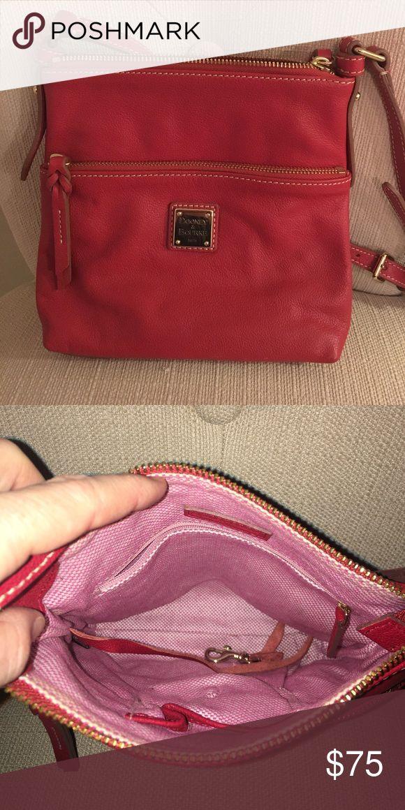 Dooney & Burke Cross body Bright red Dooney and Burke cross body purse! Rarely worn (to UGA football games). Bags Crossbody Bags