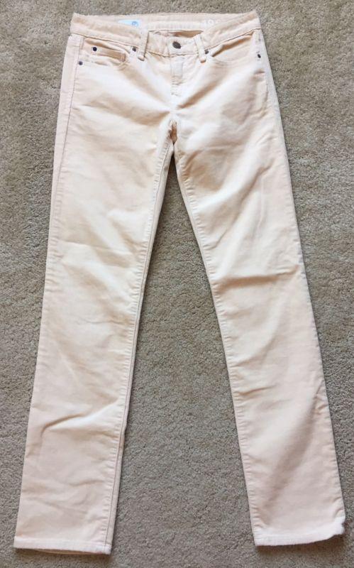 Gap 1969 para Mujer Desnudo/Beige Real Recto Pantalones de pana usado en excelente estado ~ ~ tamaño 26R