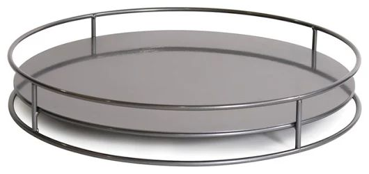 Contemporary Howard Elliott No Tip Cylinder Tray, Titanium - Contemporary - Serving Trays - by GwG Outlet. Originally from http://www.houzz.com/photos/27065552/Contemporary-Howard-Elliott-No-Tip-Cylinder-Tray-Titanium-contemporary-serving-trays