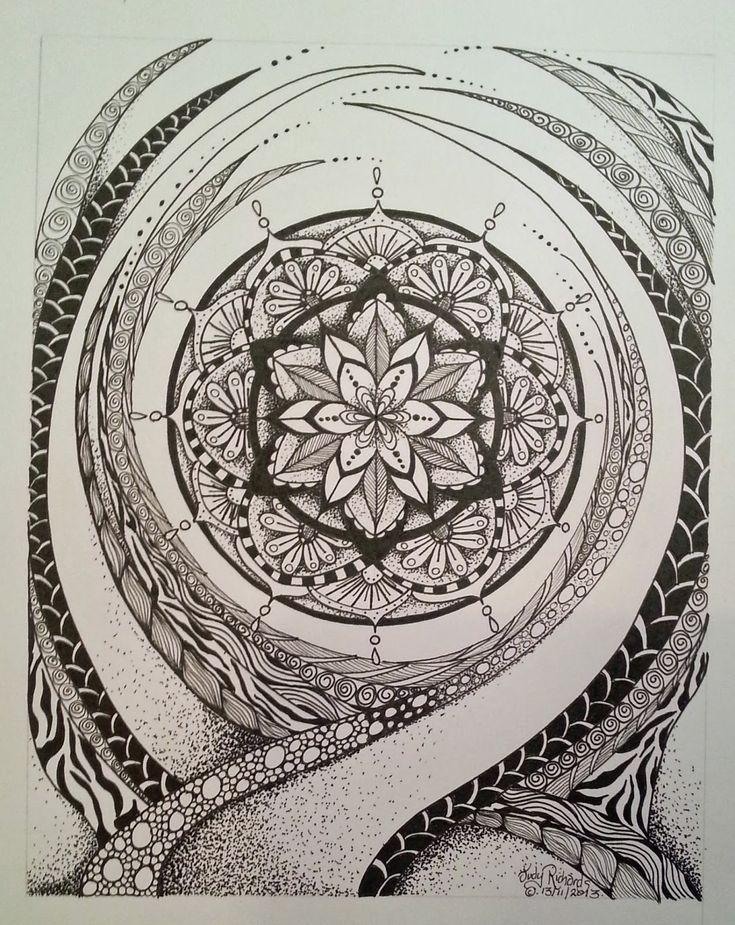 Judy's Zentangle Creations: Mystical Mandala by Judy Richards