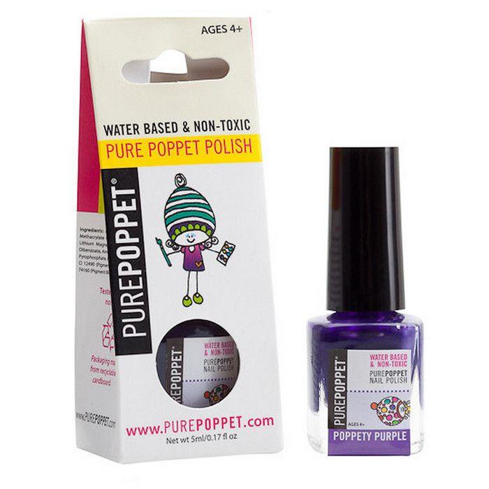 Pure Poppet Natural Kids Nail Polish - Poppety Purple