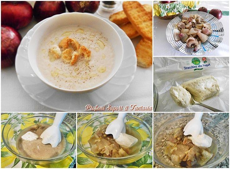 Crema di cipolle rosse con stracchino allo yogurt Blog Profumi Sapori & Fantasia