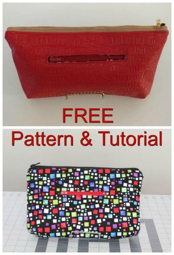 Angie Clutch Free Pattern Tutorial Clutch Bag Pattern Bag