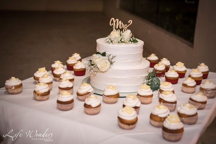 Cancun wedding photographer | simple White wedding cake cupcakes | Mexico luxury beach destination wedding photograph