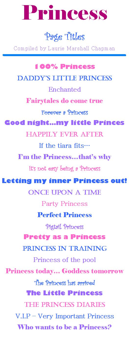 Princess Page Titles #CreativeMemories #Croptoberfest2015 www.creativememories.com