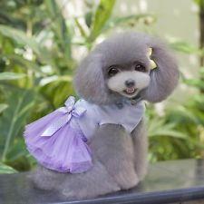 Cute Pet Dog Tutu Dress Tulle Layered Skirt Princess Clothes Clothing Apparel S