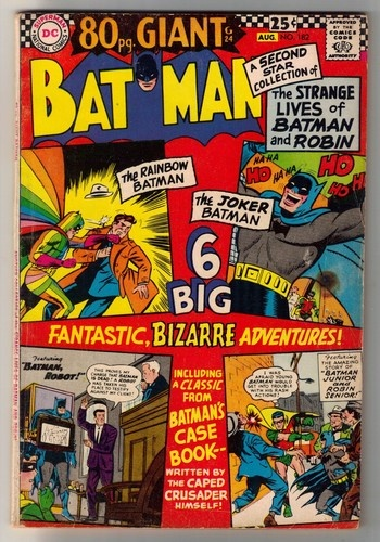 374 best retro comic covers images on pinterest comics cartoon batman 182 1966 vg 4 0 80 page dc giant ebay fandeluxe Images