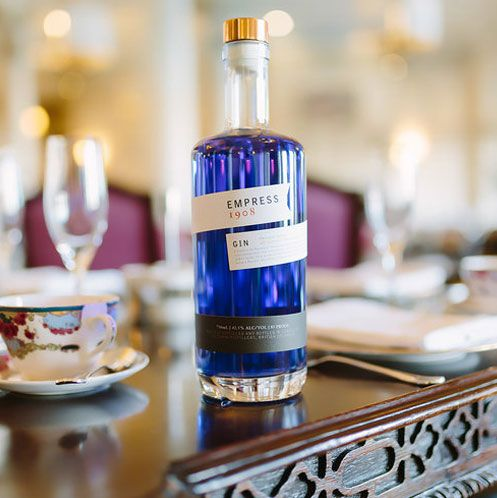 Handcrafted by Victoria Distillers, Empress 1908 Indigo Gin marries crystalline Canadian waters with eight organic botanicals: juniper, rose, coriander seed, grapefruit peel, ginger root, cinnamon bark and the Fairmont Empress tea blend. Its trademark hue is imbued by the infusion of butterfly pea blossoms. 'True to its origin' botanical sourcing and Fair Trade grains enhance Empress 1908 with a sustaining purity.