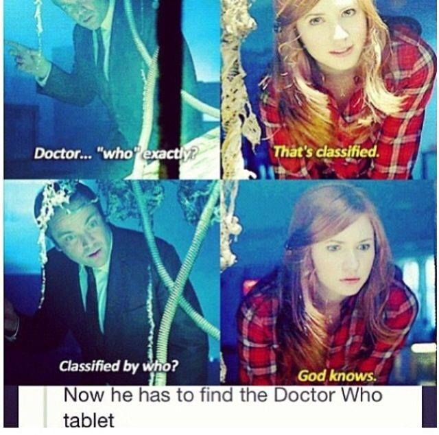 It would be The Doctor tablet not the Doctor Who tablet :P
