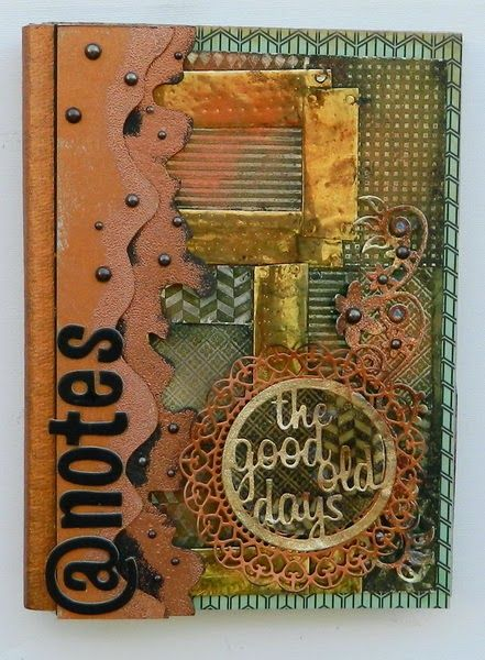 IRIT SHALOM- Craft addict LTD: Book cover with Ann Butler's Faux Quilt stamps