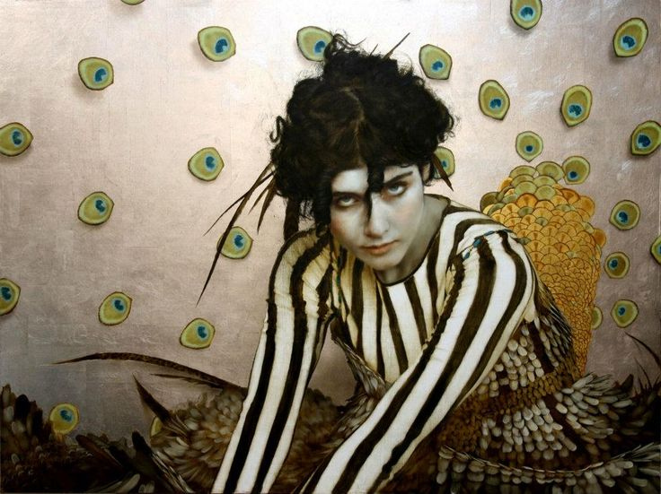 Bird of Paradise, 2012, Oil, gold & silverleaf on linen ~ Brad Kunkle    This is one of my favourites! This guy is a genius with a very limited pallet... and not to mention using real gold and silver-leaf for luminosity!
