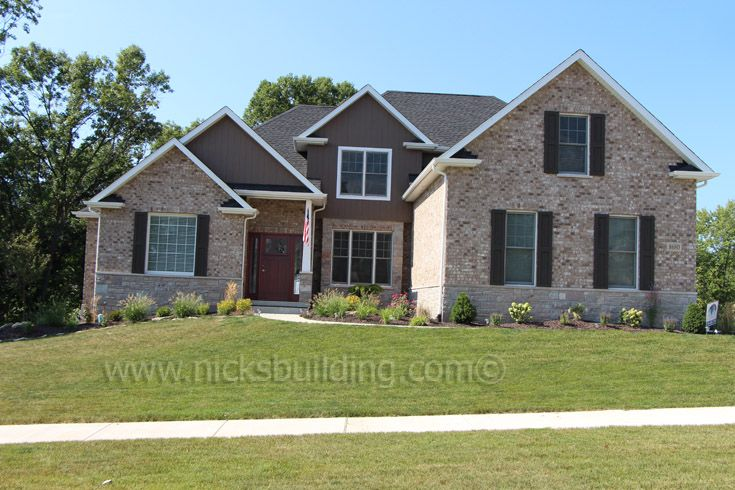 House On Hill Craftsman Entrance Brick Home Shutters On Window Door Purchased At Www