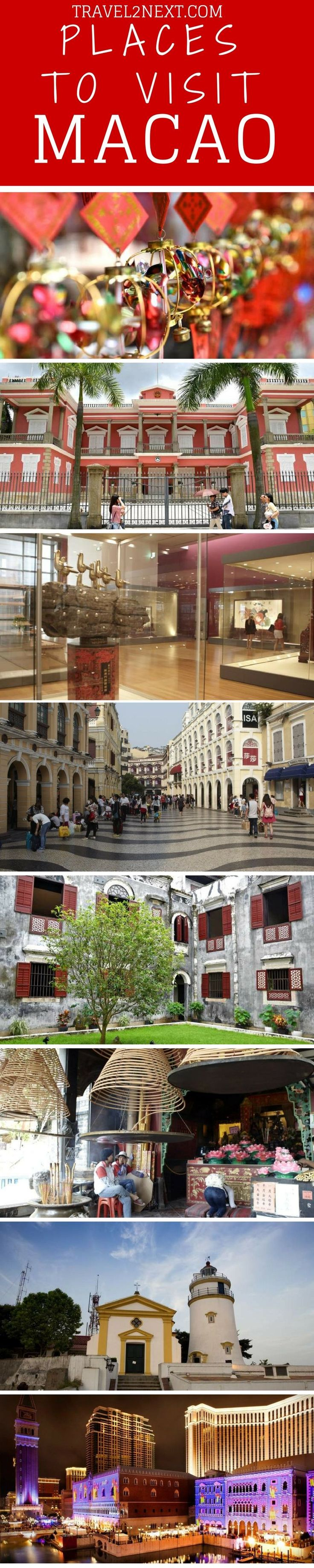 20 places to visit in Macao. Macao is a mysterious melding of east and west, a fusion of ancient architecture and high-tech pizazz.