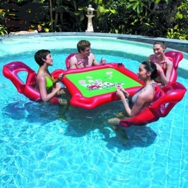 Poker Party in the Pool : )