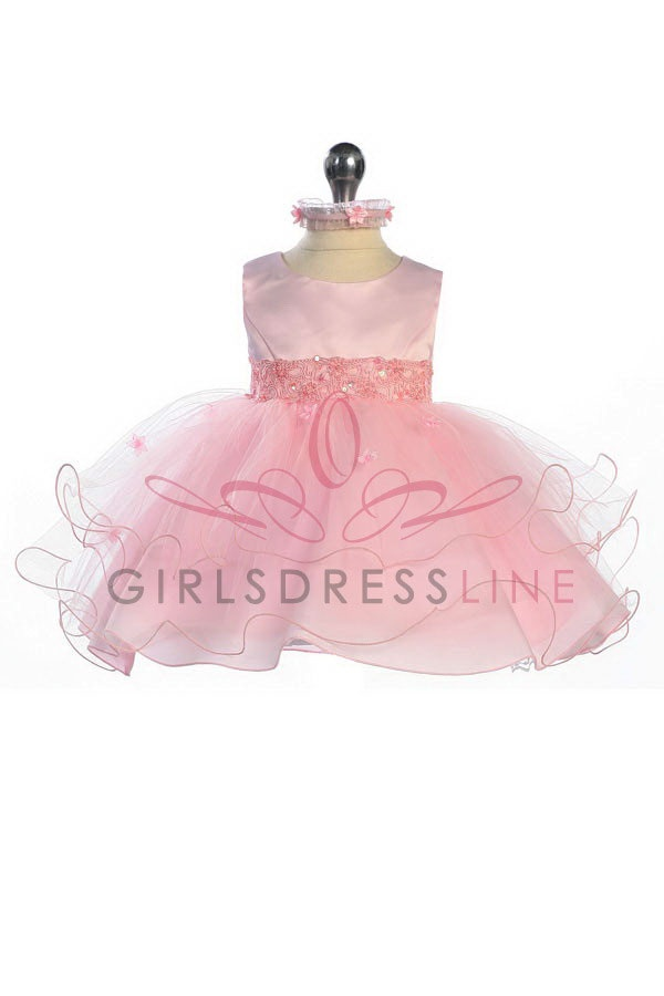 Infant Pink Tulle Flower Girl Dress K210P $48.50 on www.GirlsDressLine.ComFlower Girls Dresses, Girls Generation, Tulle Flowers, Pageants Dresses, Toddlers Dresses, Dresses Maybe, Baby Girls, Flower Girl Dresses, Tulle Flower Girls