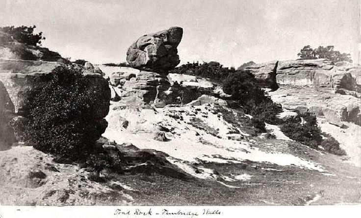 Toad Rock, Rusthall without a fence around it which indicates this image must be pre-1880s.