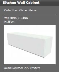 along the wall of the kitchen, there are many white cabinets for storage - measurements in the picture.